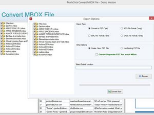 MailsClick Convert MBOX File to PST - MBOX to Outlook PST Conversion