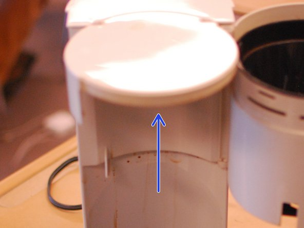 Don't forget the area above the filter holder. During brewing, steam from the grounds accumulates above the filter. Depending upon your particular maker, this area may be quite dirty. Use the same microfiber scrub rag to get this clean.