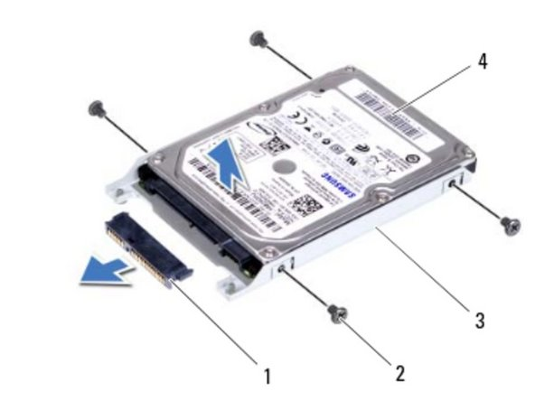 Lift the hard-drive off the hard-drive bracket.