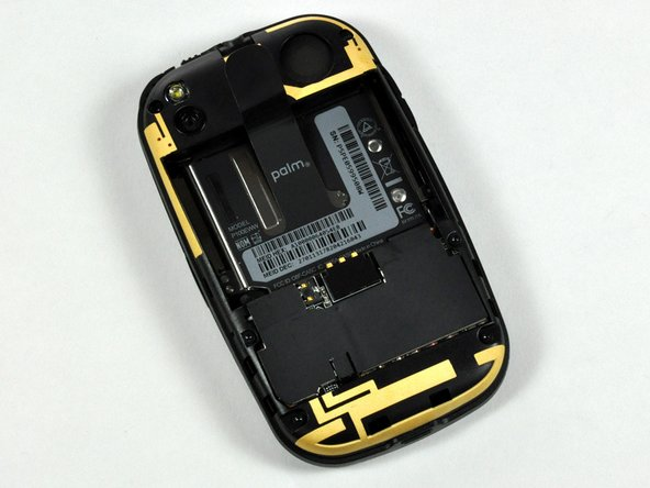 The back of the phone and speaker.