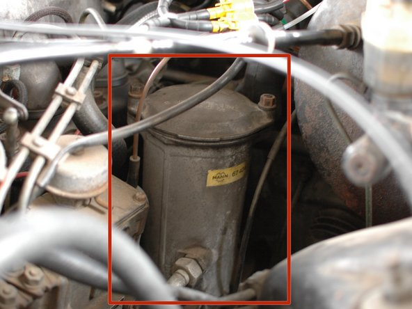 Check the oil filter housing for leaks at the lid seal, as well as at the oil cooler lines and the seal where it attaches to the engine block.