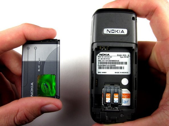 nokia 2610 battery and sim card replacement ifixit repair guide rh ifixit com