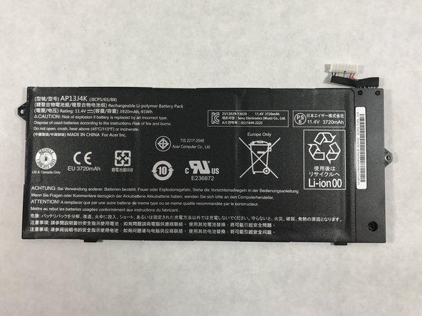 Acer Chromebook C720-2103 Battery Replacement