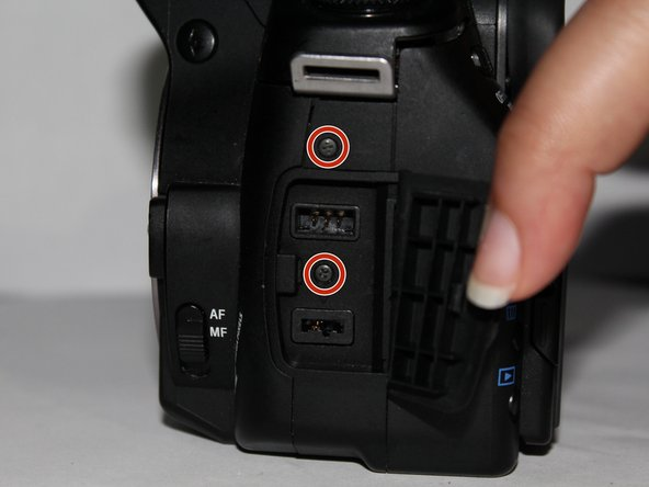 Sony Alpha A350 Cable Port Door Replacement