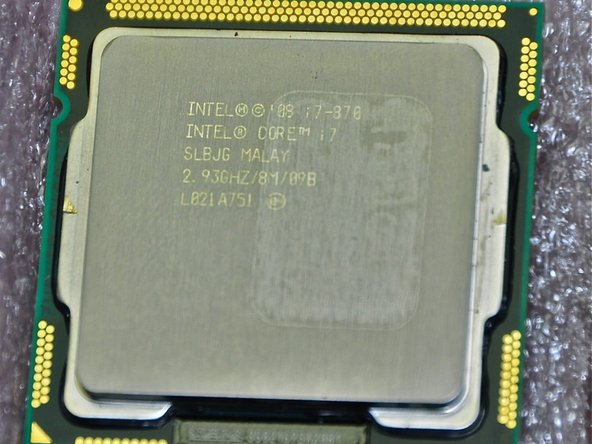 Image 1/3: Processor is Intel Core i7 870 2.93GHz 8MB LGA 1156 Quad Core Processor 95W. I bought this CPU used on eBay.