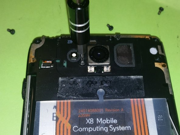 There is(1) screw holding the camera housing. Use a T4 screwdriver for this one screw.