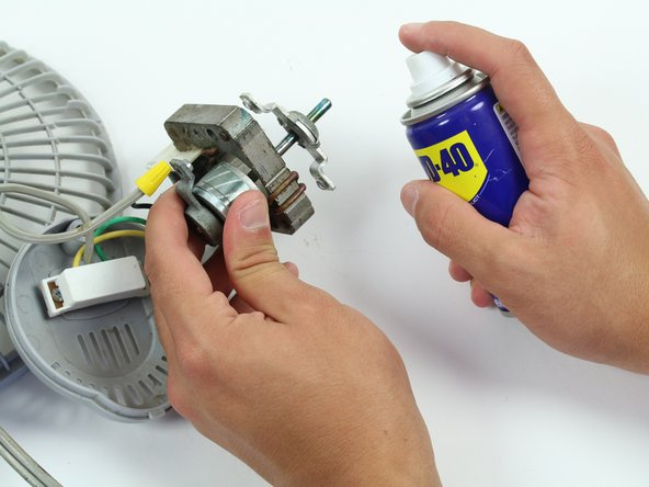 If the motor will not move out of its now freed state you can use WD-40 to loosen it
