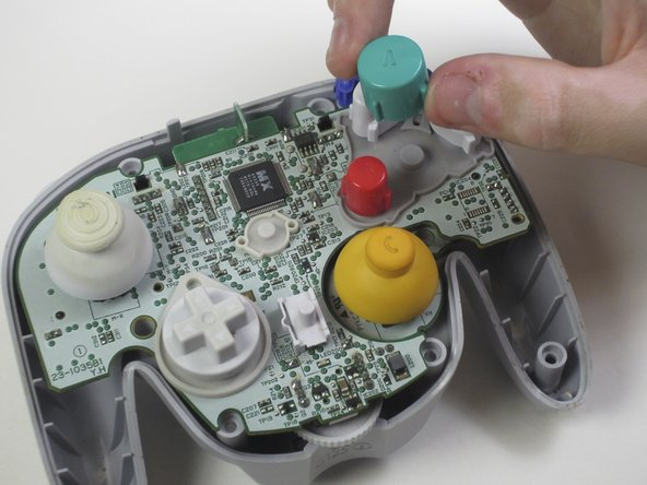 Image 3/3: During reassembly, make sure all buttons are in their respective sockets so they match up with the front panel.
