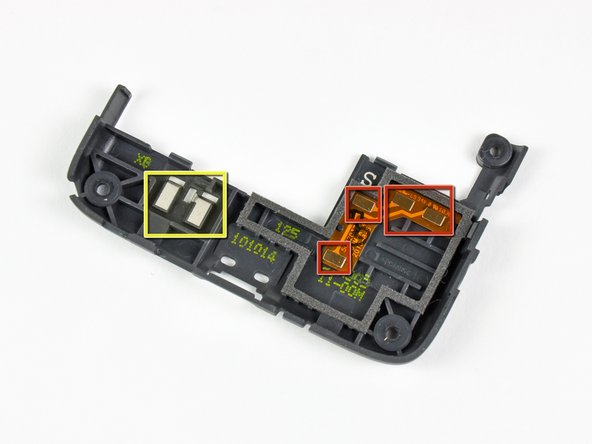 Image 2/3: Connect the lower speaker to the lower motherboard.