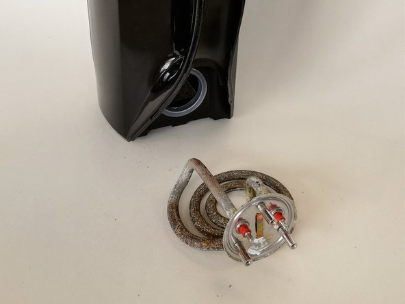 Get the heating element out of the kettle. It has to be removed from the inside.
