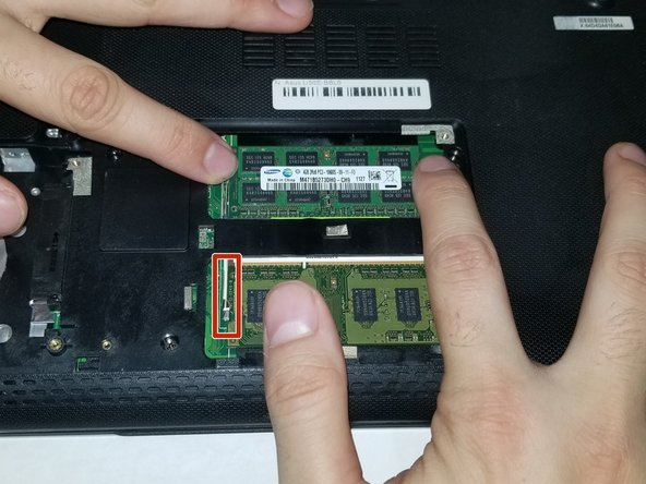 This device is embedded with  two RAM sticks.