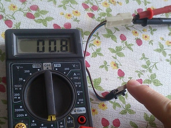 check the conductivity with a multimeter. if the switch is faulty remove the green seal and drip some alcohol into the switch. Check the conductivity again. Let it dry upside down in a hot dry place. Buy a new one if it's still bad.