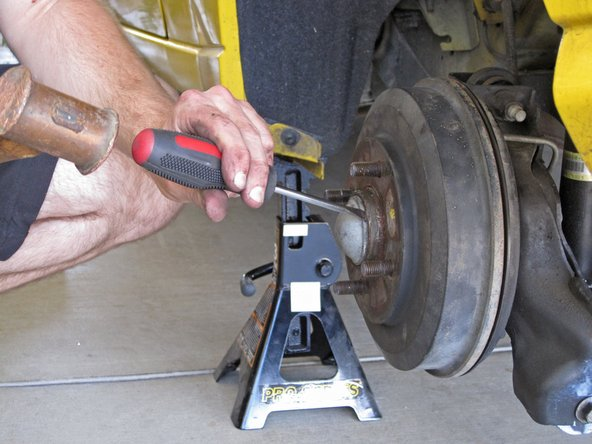 This step is for removing the brake drum and the wheel bearing together.