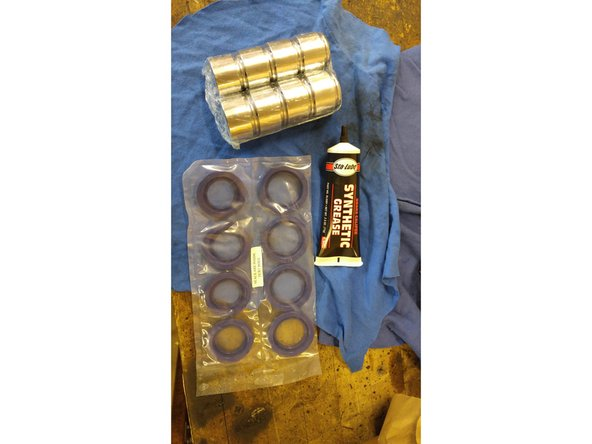 Have some brake assembly lube ready to put everything together.