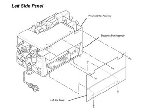 Newport e500 Left Side Panel Disassembly