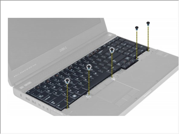 Remove the screws that secure the keyboard to the computer.