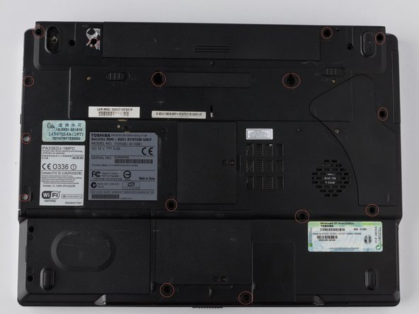 Image 1/2: There are 3-additional screws that need to be removed through the 3-holes located in the optical drive.