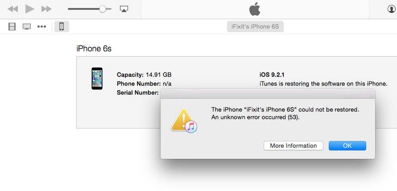 confirmed apple\u0027s error 53 fix works ifixit