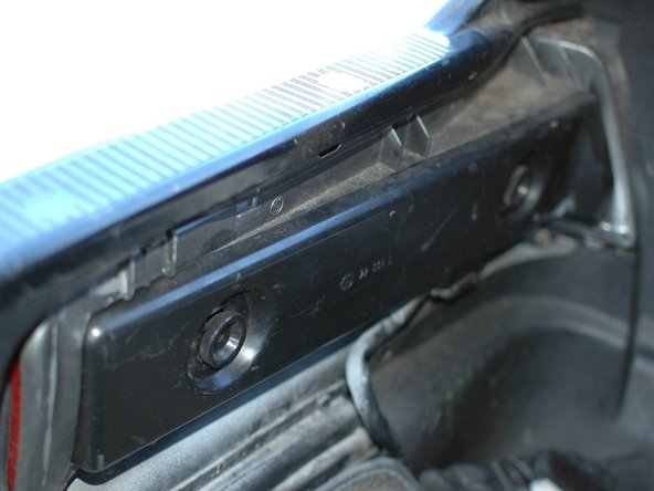 The access panel for all of these lights is on the inside of the trunk. There's one on each side. This guide will cover one side; simply repeat on the other to complete the job.