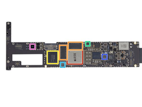 Image 1/2: Apple APL1021 A9X 64-bit Processor