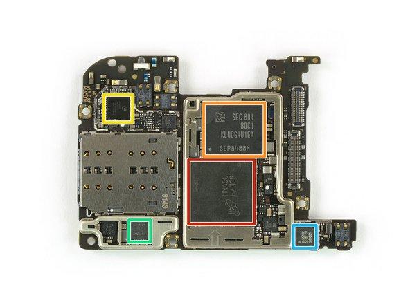 Micron MT53D768M64D8WF-053 WT:D 6 GB LPDDR4 SDRAM with the Kirin 970 SoC underneath