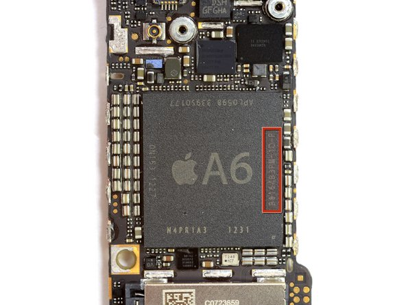 Image 1/2: The A6 processor is the first Apple [link|http://en.wikipedia.org/wiki/System_on_a_chip|System-on-Chip (SoC)] to use a custom design, based off the ARMv7 instruction set.