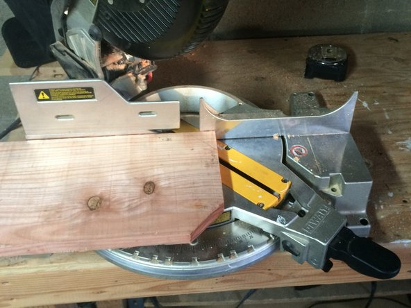 Then flip the board and shift the saw to make the second cut.