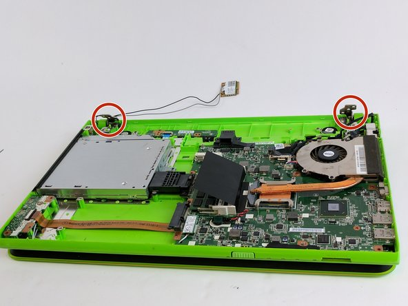 They are two hinges that hold the screen on. Make sure to pay attention to where the screws come from in order to put them back and to make installation easier.