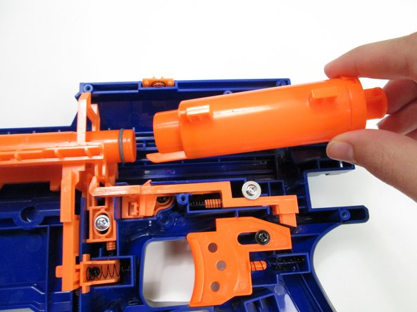 Pull the air cylinder and plunger assembly rearwards and out of the rifle.