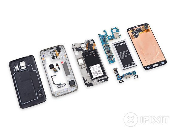 Samsung Galaxy S5 Repairability Score: 5 out of 10 (10 is easiest to repair).