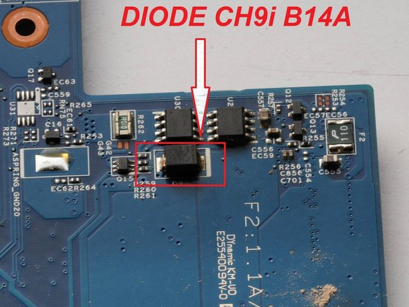 Acer Aspire 5738Z Diode  CH9i B14A Replacement