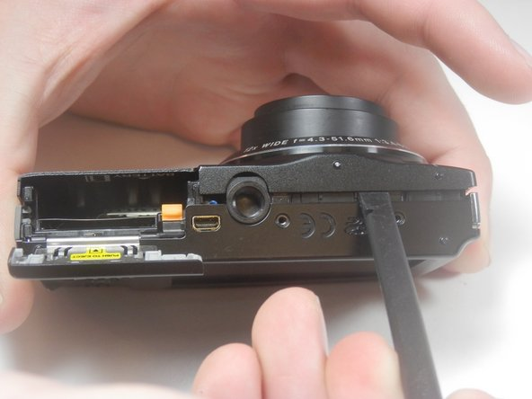 Open the battery chamber and remove the battery.