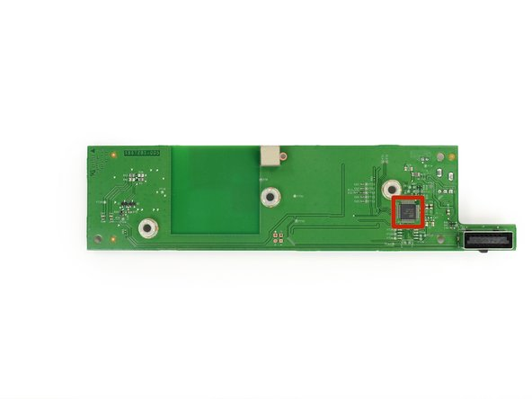 The back of the RF Module board features one lone IC from Info Storage Devices labeled 9160F1MS03 1327 2317B057. We believe this is an Audio User Interface chip from Nuvoton.