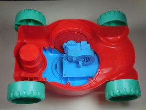 How to Repair the Electrical Connections on a Little Tikes Motorized Bubble Mower.