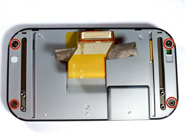 Remove four 5.0-mm Torx T6 screws from the screen enclosure.