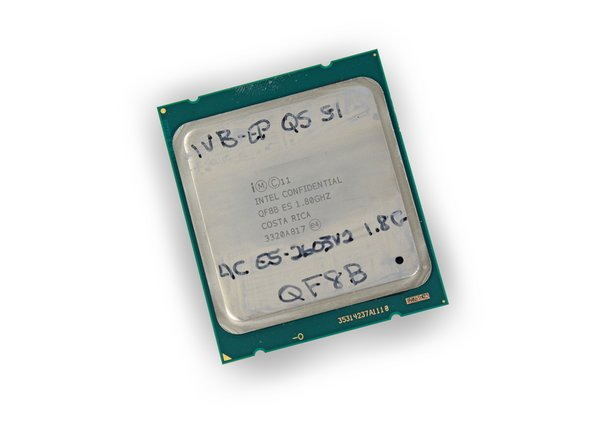 A pair of Intel Confidential Xeon E5-2602 quad core processors!