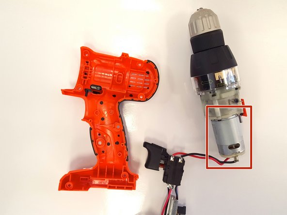 Image 2/2: Locate the motor.