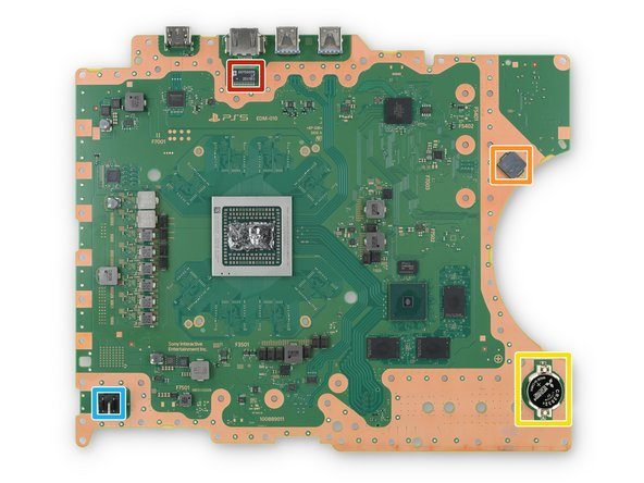 Before we point out the big chips you've probably already heard about, here are some interesting features of this giant PCB: