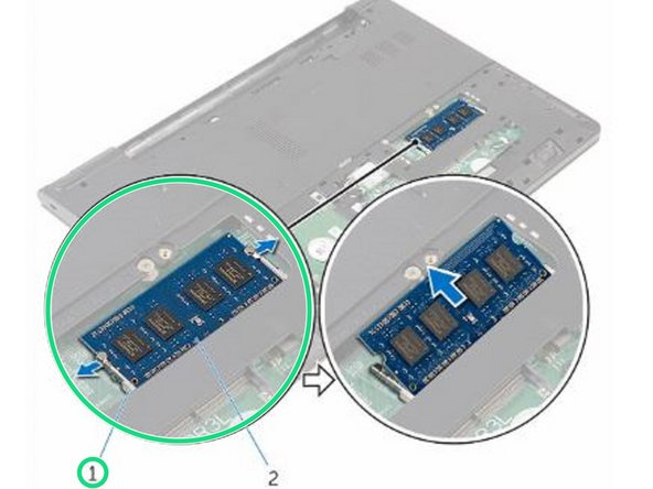 Dell Inspiron 15 3568 Memory Modules Replacement