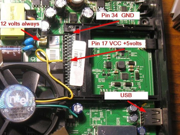 """Active cooling needs power supply. In """"upper center"""" of the board is a 12V DC power connector (CNP2) that could easily be used. But this is always on - even in standby. I don't want to have the fan rotating also in standby - makes noise, wastes energy and reduces FAN lifetime"""