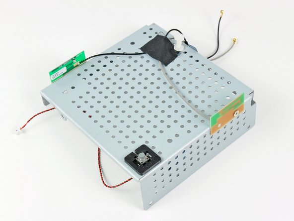 Image 3/3: The power button switch and dual antennas are mounted to the bottom metal frame, making it one compact unit.