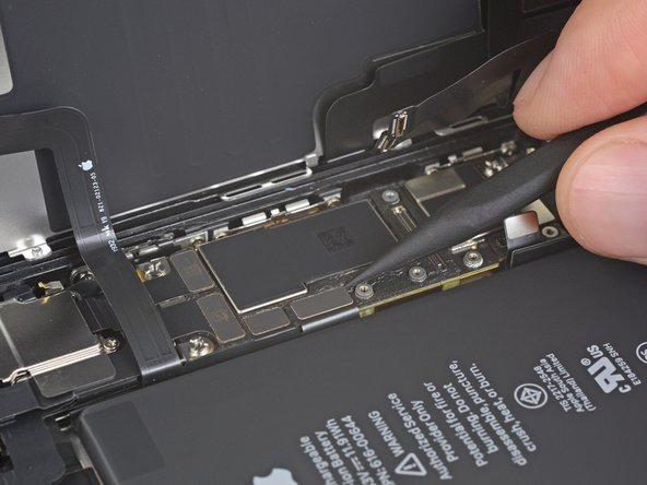 Use the point of a spudger or a fingernail to disconnect the front panel sensor assembly connector.