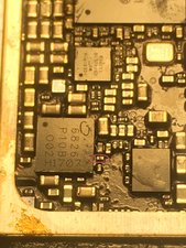 SOLVED: iPhone 7 no service, one capacitor shorted - iPhone
