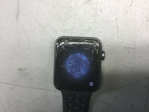Here we have a Series 3 Apple Watch with a broken Display.