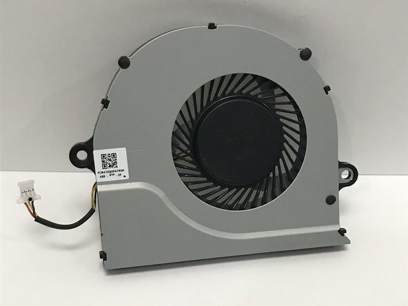 Disconnect the fan from the laptop by carefully unplugging the wires connecting the fan to the computer. The fan should now be completely detached from the computer.