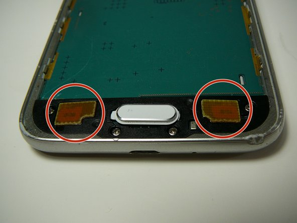 Use a plastic tool to remove back and/or recent tabs circuit buttons.