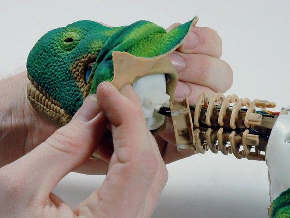Toy repair  of Pleo the dinosaur
