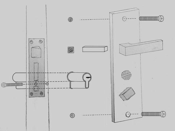 Remove the lock cylinder lock screw.