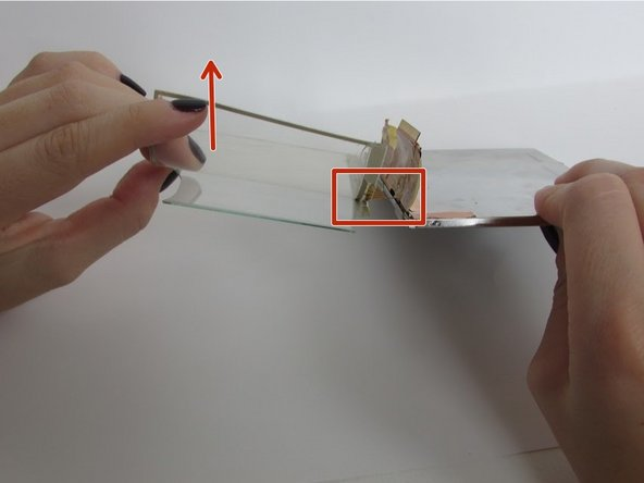 Peel the plastic screen away from your shattered glass screen, and replace with your new glass screen.