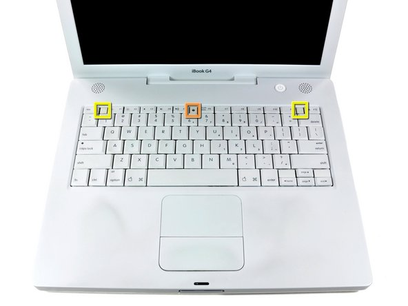 ibook g4 14 1 42 ghz keyboard replacement ifixit repair guide rh ifixit com PowerBook G4 iMac G4